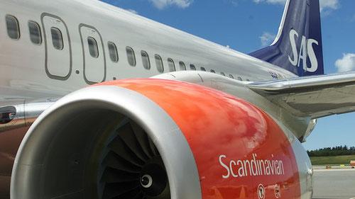 """""""Stärkung der Marke SAS"""" - hier an einer Boeing 737-800/Courtesy: SAS"""