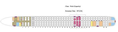EVA Air MD-90-Kabinenplan mit 152 Sitzplätzen/Courtesy: EVA Air