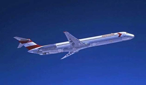 MD-81 von Austrian Airlines/Courtesy: McDonnell Douglas