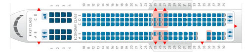 Neue Konfiguration mit 16 First und 144 Coach/Courtesy: Delta Air Lines