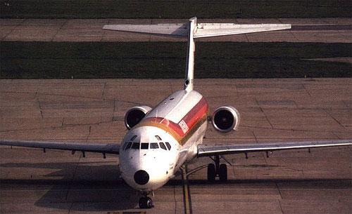 MD-87 von Iberia/Postkarte