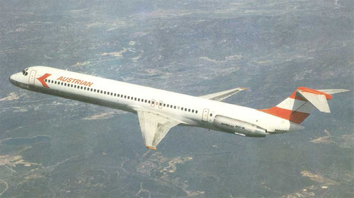 MD-81 im Farbkleid der Austrian Airlines/Courtesy: McDonnell Douglas