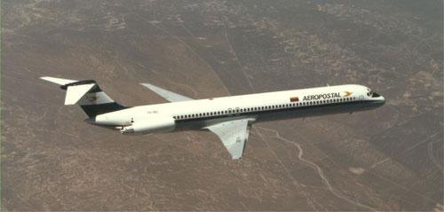 MD-83 im Farbkleid der Aeropostal/Courtesy: McDonnell Douglas