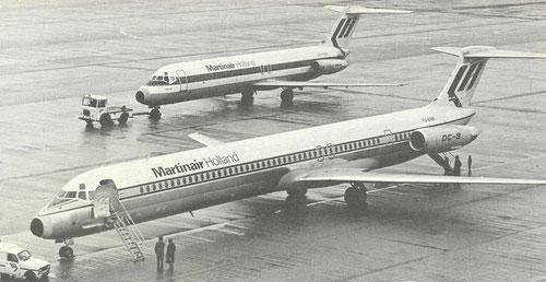 MD-82 und DC-9-30 auf einem Foto/Courtesy: Martinair Holland