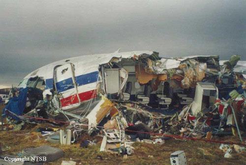 Die ehemalige Vorderrumpf der MD-82/Courtesy: NTSB