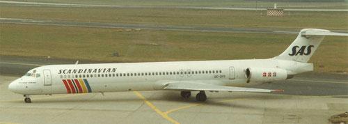 MD-81 der SAS - später zu einer MD-82 aufgerüstet/Privatsammlung