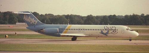 Eine rollende DC-9-32/Privatsammlung
