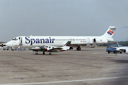 Spanair etablierten sich einst erfolgreich mit der MD-80/Courtesy: David van Maaren
