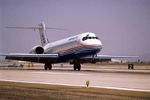 Eine Boeing 717 setzt auf!/Courtesy: Boeing