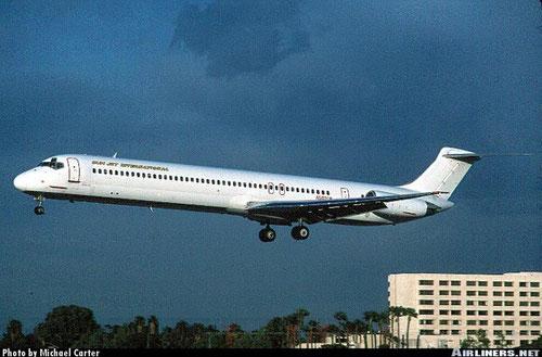 Die einzige MD-82 präsentierte sich zeitweise sehr weiss/Courtesy: Michael Carter