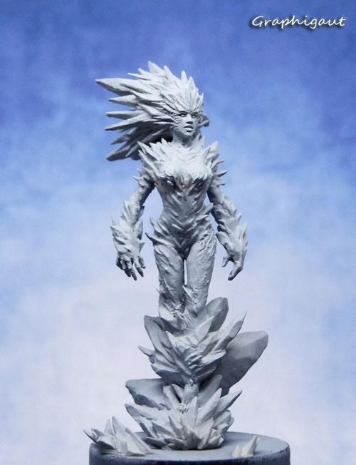 Skädi, ice godess, 54mm, magic sculpt, graphigaut, reine des neiges