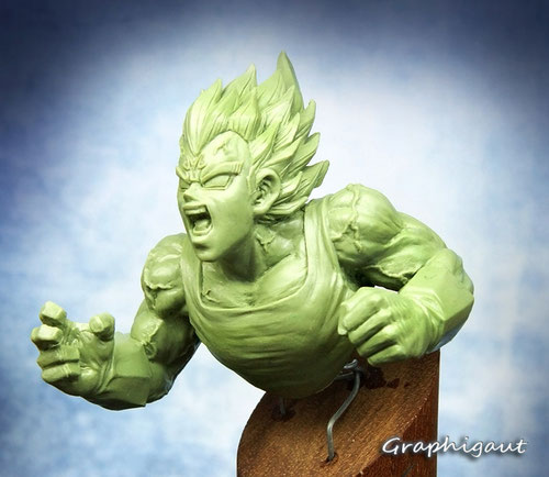 Vegeta, Bejita, Majin, Prince of sayian, sayiajin. Dragon Ball Z, Babidi, Sculpture Graphigaut