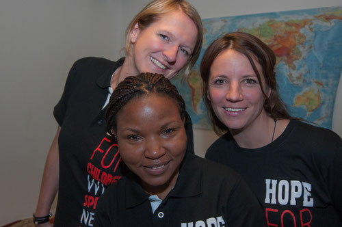The three founders of Mukisa Foundation: Alexandra Bücker, Florence Namaganda and Sonja Hagedorn foundet Mukisa in April 2006