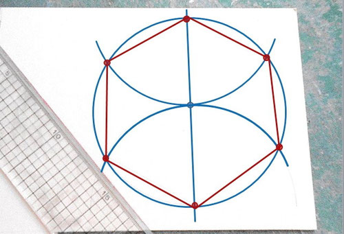 Drawing Hexagon/ 六角形の描き方_05 ©Atelier Z=Grace