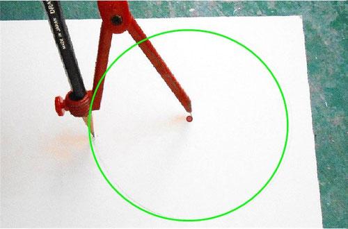 カルトナージュの作り方_Drawing Hexagon/ 六角形の描き方_01 ©Atelier Z=Grace