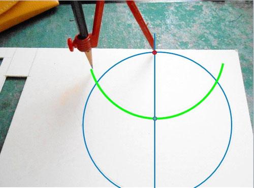 カルトナージュの作り方_Drawing Hexagon/ 六角形の描き方_03 ©Atelier Z=Grace