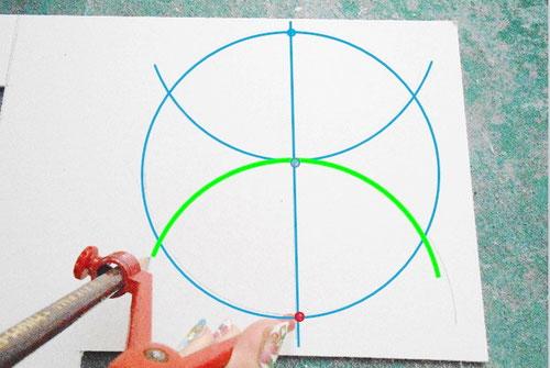 カルトナージュの作り方_Drawing Hexagon/ 六角形の描き方_04 ©Atelier Z=Grace