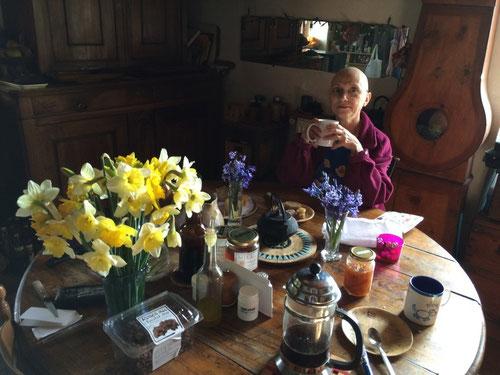 14 mars 2015 - l'heure bleue du petit déjeuner...