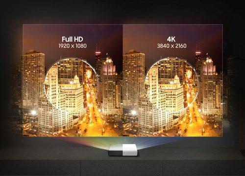 Samsung LSP7T FullHd - 4k Vergleich beamer-freund.de