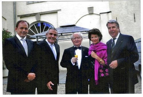 Anläßlich des 50 jährigen Bestehens, Lionsfreunde Manfred Michels, Peter Theissen, Axel Meuser, Cathrin Linssen, Dr. Helmut Linssen