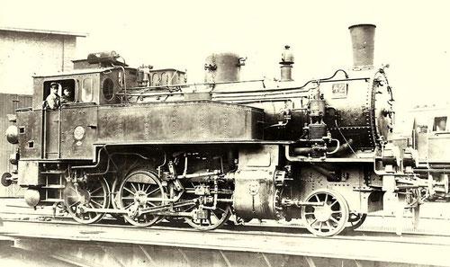 """Preußische T9.3, die bei der HBE zunächst den Namen """"Präsident Baltz"""" trug, dann die Nummern 42 bzw 91 6576 (Aufnahme: Carl Bellingrodt, Barmen)"""