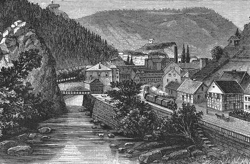 Rübeland 1886 (Zeichnung Carl Grote)