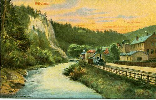 Rübeland mit Bode und Bahn um 1895