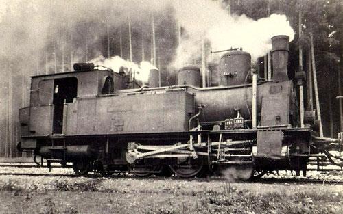 """Zahnradlok Nummer 69 """"von Budde"""" im Jahre 1919"""