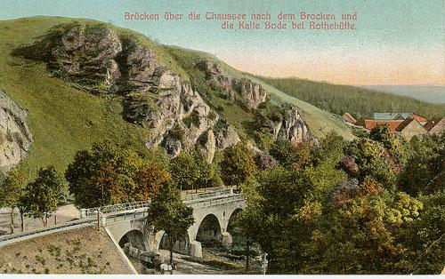 Rothehütte mit Brücke über die Kalte Bode um 1895