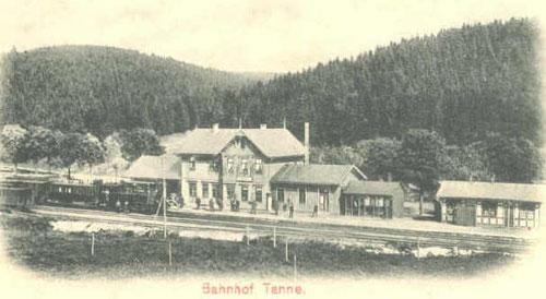 Bahnhof Tanne, Endpunkt der Harzbahn 1890