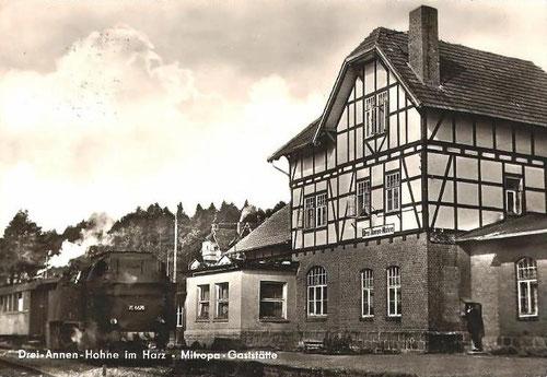 Bahnhofsgebäude der HBE in Drei-Annen-Hohne in den fünfziger Jahren