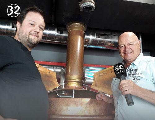 Buechibärger Bier - Foto Ritschi und Ray am Tag des Bieres mit Radio32