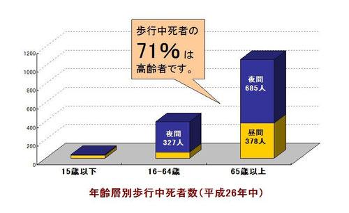 高齢歩行者死亡事故における違反
