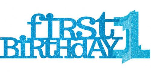 Tafeldecoratie First Birthday 35,5 x 11,5 cm blauw € 3,35
