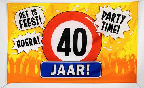 Gevelvlag 40 jaar 90x150 cm € 7,95