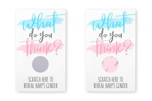 Kraskaart Girl Gender reveal € 2,95 inhoud: 10 stuks