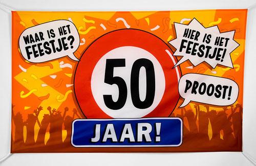 Gevelvlag 50 jaar 90x150 cm € 7,95