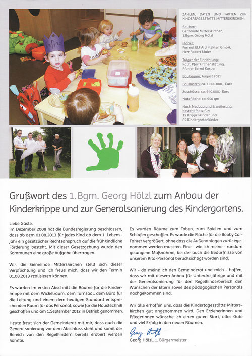Fyler Krippenneubau und Generalsanierung