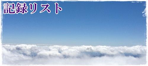 男体山頂上から見えた雲海