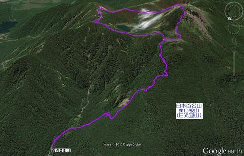 菅沼登山口からの登山コース