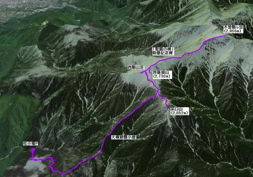 Google Earthよりマッピング