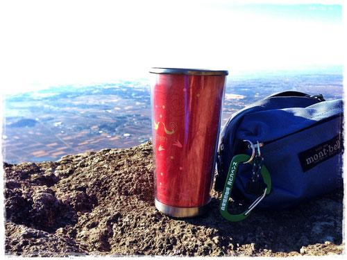 立身石の上でコーヒータイム