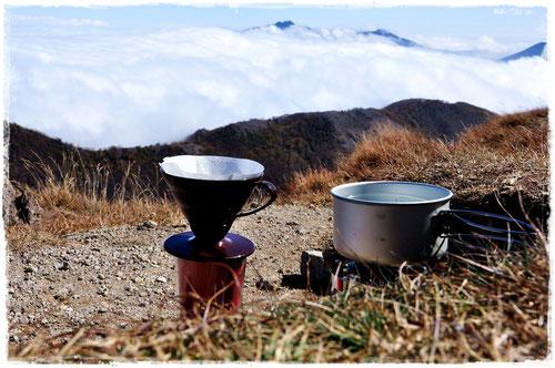 雲海上の白根山頂で「2014 Kouyou BLEND」