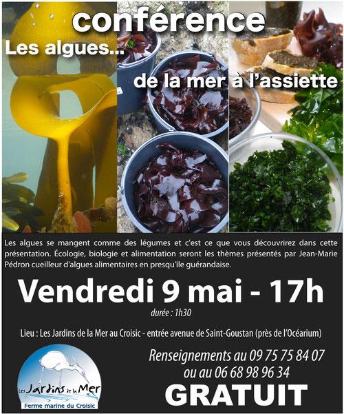 conférence gratuite sur les algues le vendredi 9 mai à 17h