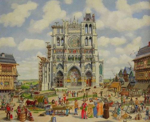 Cathédrale d'Amiens au Moyen Age