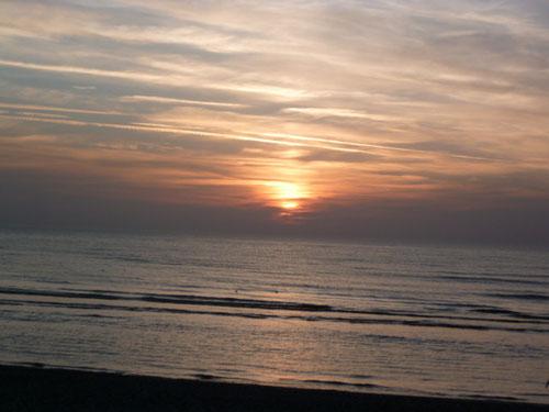 coucher de soleil à cayeux-sur-mer