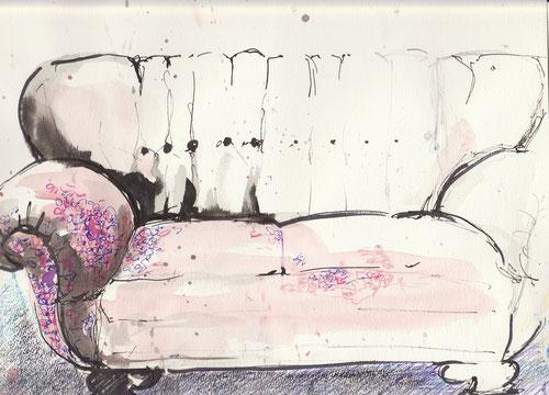 Gemütlich, das Sofa. Aber so leer. Da fehlt etwas.