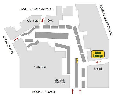 Lageplan Diva Lounge