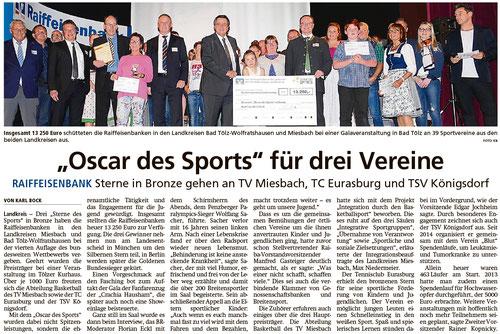 Bericht im Miesbacher Merkur am 15.10.2018 - Zum Vergrößern klicken
