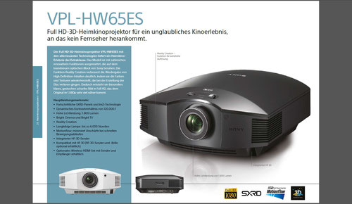 Sony HW55ES im Überblick